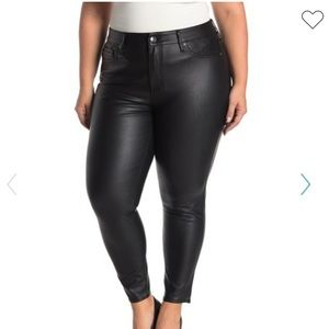 Seven7 Faux leather skinny high rise | size 24